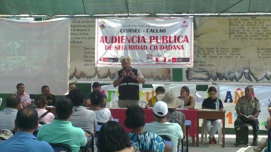 Primera audiencia pública de Seguridad Ciudadana en Oquendo