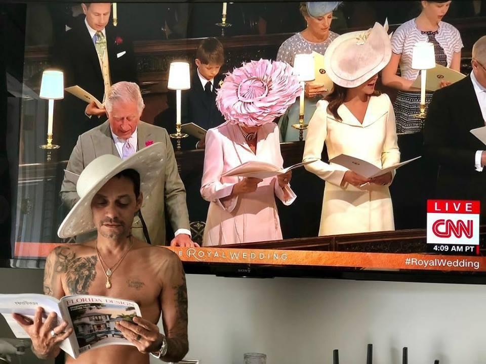 Marc Anthony se burla de la boda real