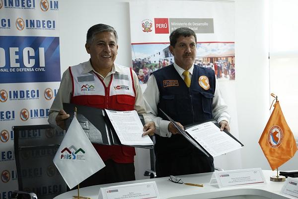 INDECI y Programa PAIS se unen para afrontar situaciones de emergencia