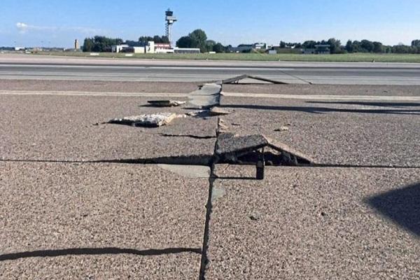 Alemania: Calor extremo parte la pista de un aeropuerto en Hannover