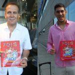Exárbitro Tejada y juvenil Marco Saravia emocionados por el álbum