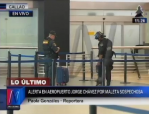 Maleta abandonada generó falsa alarma en aeropuerto Jorge Chávez