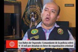 Comandante PNP cobró  S/ 15,000 por desalojo
