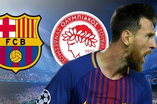 Champions League: Barcelona ganó 3-1 al Olimpiakos de Grecia