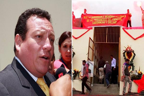 Mausoleo terrorista: Comas y Poder Judicial lo rechazan