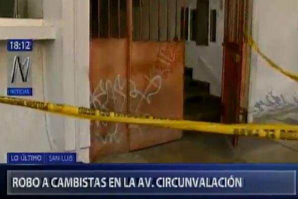 San Luis: Cambistas fueron asaltados en la avenida Circunvalación