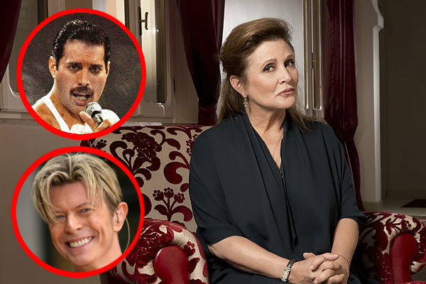 Carrie Fisher: Mercury y Bowie fueron sus amantes