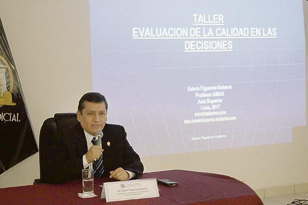 Corte Superior del Callao realizó con éxito taller de evaluación