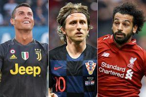 Cristiano Ronaldo, Luka Modric y Mohamed Salah finalistas a mejor jugador de Europa