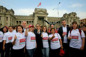 Ni Una Menos: Gabinete Araoz presente en la marcha