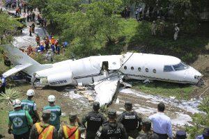 Honduras: Avión jet ejecutivo de EE. UU. se accidentó en el aeropuerto de Toncontín