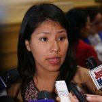 Indira Huilca pide que presidencia de la Comisión de Ética sea reasignada