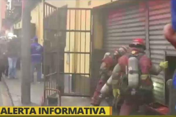 Mercado Central: Incendio causa alarma en local comercial