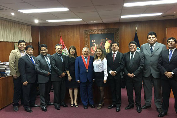Jueces del Callao realizan visita de trabajo a Corte de Tacna
