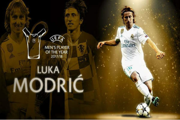 Luka Modric es elegido como el mejor jugador del año por la UEFA