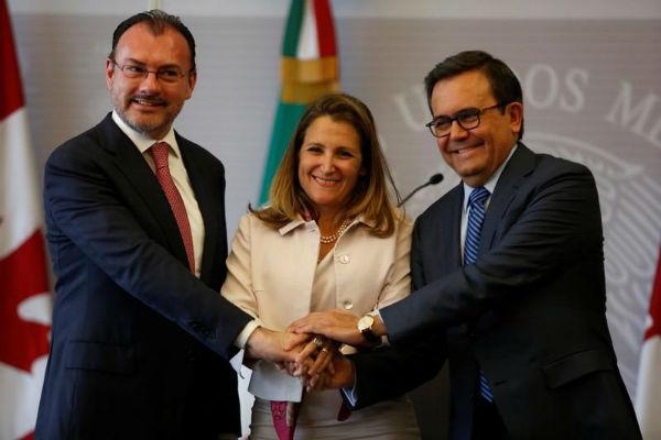 México y Canadá defenderán TLCAN como acuerdo trilateral