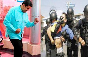 Venezuela: Maduro baila mientras opositores son reprimidos [VIDEO]