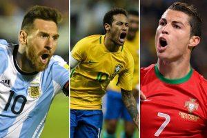 FIFA contenta: Messi, Neymar y Ronaldo están en el mundial