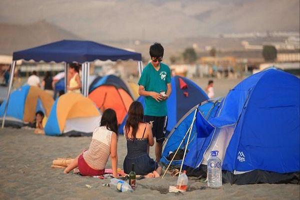 Prohibido acampar en Punta Hermosa, Ancón y Pucusana