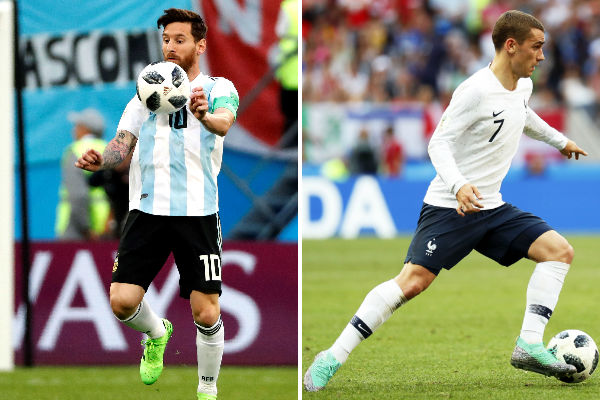 Argentina vs. Francia abren mañana la fase decisiva del Mundial
