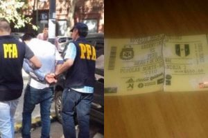 Peruano cae en Argentina por entradas falsas