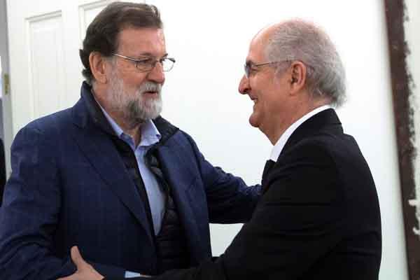 Mariano Rajoy recibe en Madrid a Ledezma