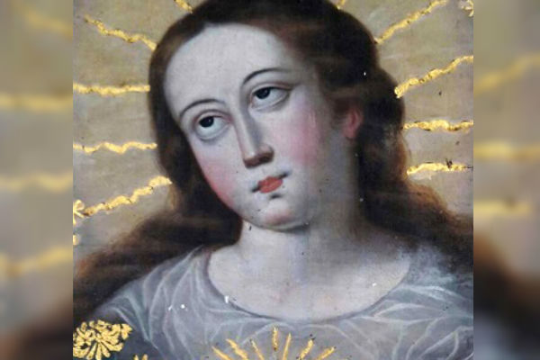 Recuperan pintura colonial del siglo XVIII