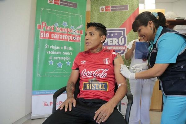 "Rusia 2018: Selección peruana se une a campaña ""Perú campeón sin sarampión"" [FOTOS]"