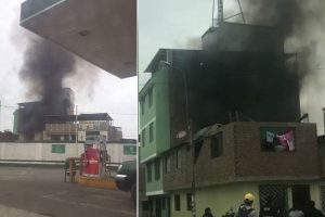 SJM: Incendio en la avenida Agustín La Rosa Lozano [VÍDEO]
