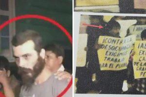 Dos terroristas excarcelados en marcha contra Congreso
