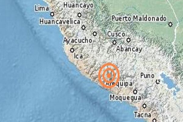 Fuerte sismo remeció la región Arequipa