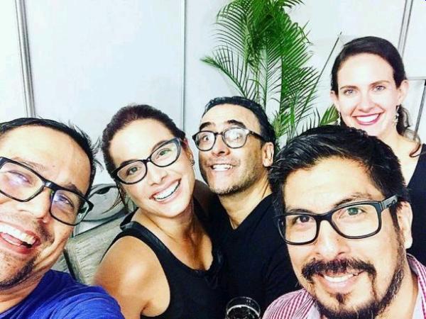 Natalia Salas se luce con Adal Ramones