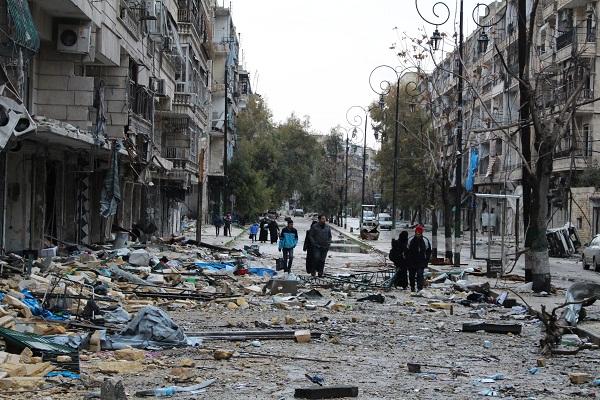 Hay 50 mil personas atrapadas en Alepo