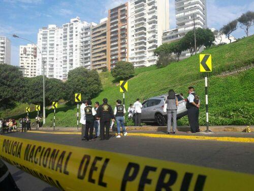 Asesinan a balazos a conductor en Miraflores [FOTOS]