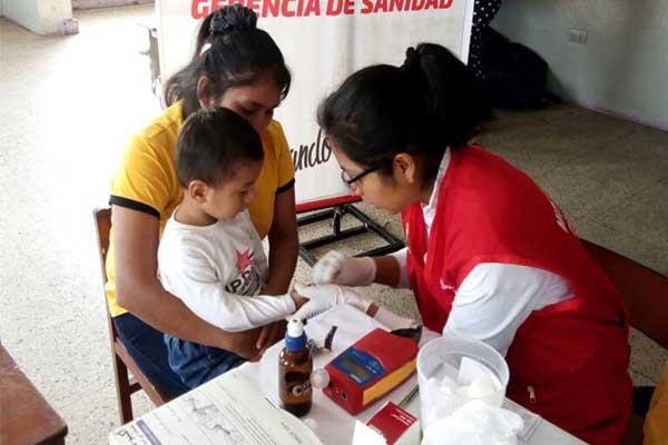 Combaten la anemia en zona de Gambetta