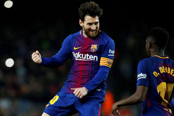 Barcelona aplasta al Girona con tantos de Messi y Suárez