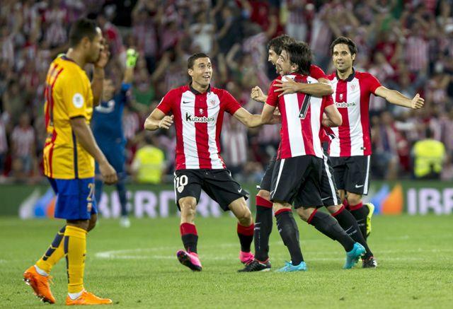 Bilbao goleó al Barcelona en Supercopa española
