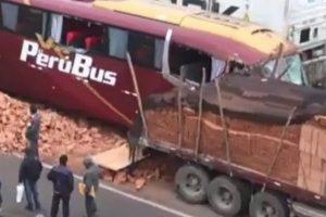 Cañete: Al menos 17 heridos deja el choque de bus interprovincial contra un trailer