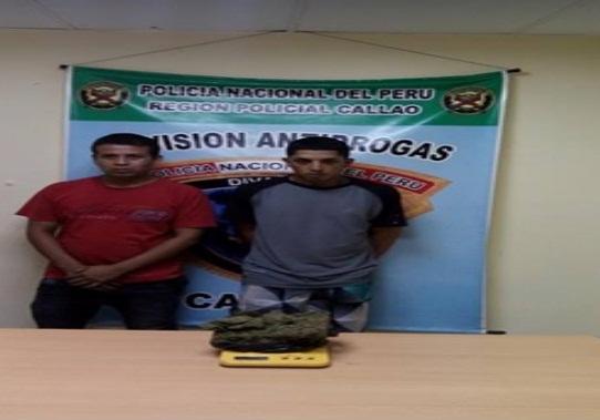 PNP del Callao encuentra un kilo de marihuana y 670 ketes de PBC