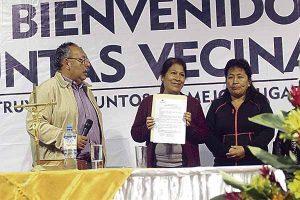 Callao: Reconocen a integrantes de Juntas  Vecinales en Carmen de La Legua