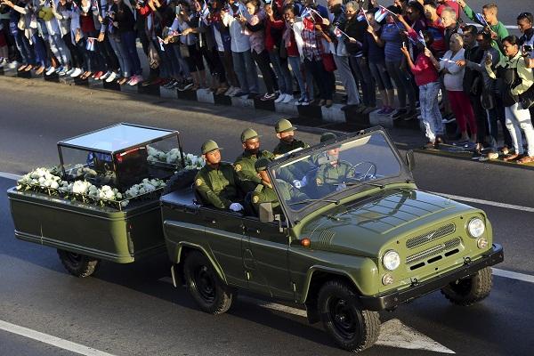 Cenizas de Fidel Castro dejaron La Habana