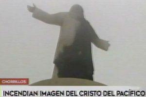 Chorrillos: Incendio dañó estructura del Cristo del Pacífico