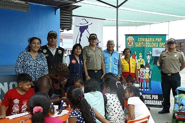 Comisaría de Sarita Colonia realiza feria contra las drogas