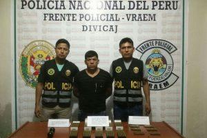 Vraem: Detienen a sargento en retiro por tenencia ilegal de explosivos