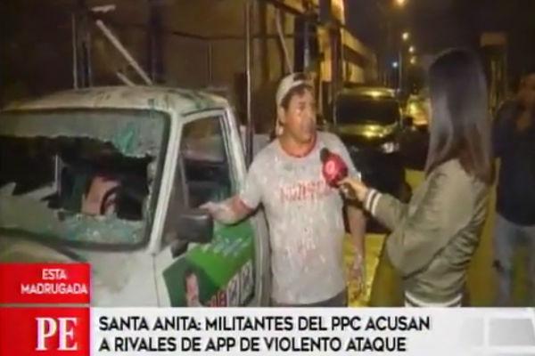 Santa Anita: Violento enfrentamiento entre seguidores de los partidos del PPC y APP