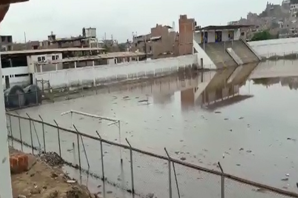 Trujillo: estadio El Porvenir está totalmente inundado [VIDEO]