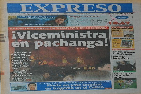 Destituyen a viceministra por divertirse en medio de emergencia