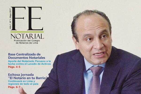 """Colegio de Notarios de Lima lanza revista """"Fe Notarial"""""""