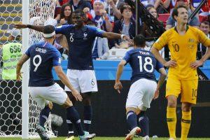 Rusia 2018: Francia venció 2-1 a Australia, con intervención del VAR