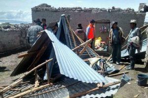 Cusco: Fuertes vientos dañan viviendas de nueve familias